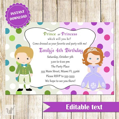 child birthday card invitation template childrens birthday invites toddler birthday