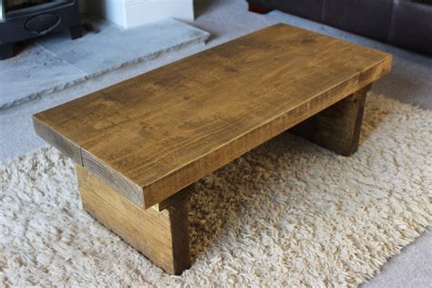 Rustic Coffee Tables Uk Rustic Handcrafted Chunky Reclaimed Wood Coffee Table In Oak