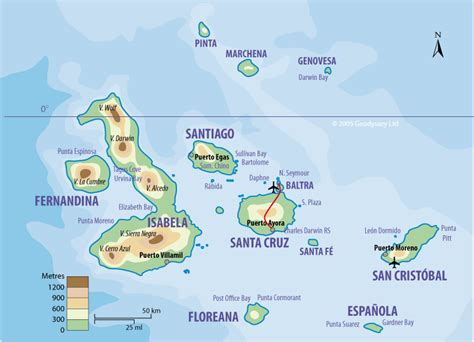galapagos map map galapagos islands free printable maps