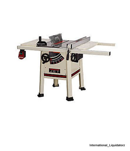 jet proshop table jet 708490 jps 10ts 10 quot proshop table saw steel wing ebay