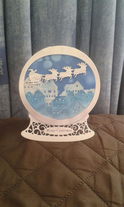 pop up snow globe card template 3d snow globe cards decore