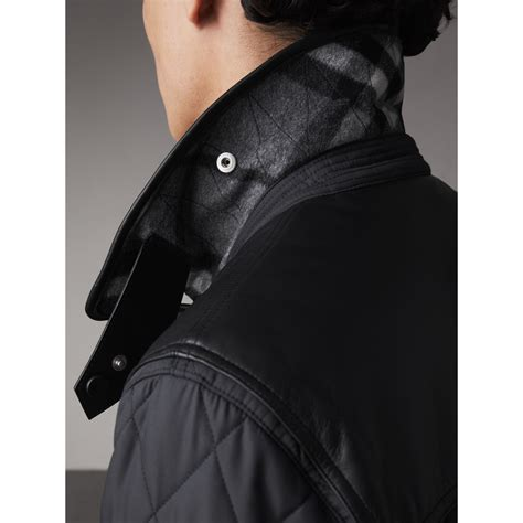 Lea Vest Light Limited lambskin yoke quilted jacket in black burberry united states
