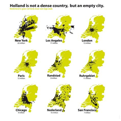 netherlands density map is not a dense country but an empty city