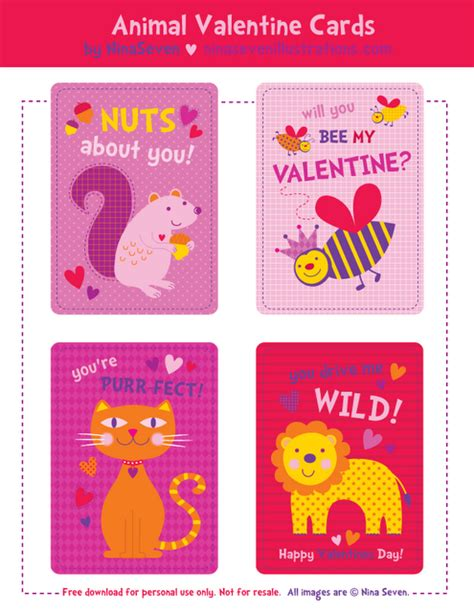 printable animal valentines day cards be different act normal printable animal valentine