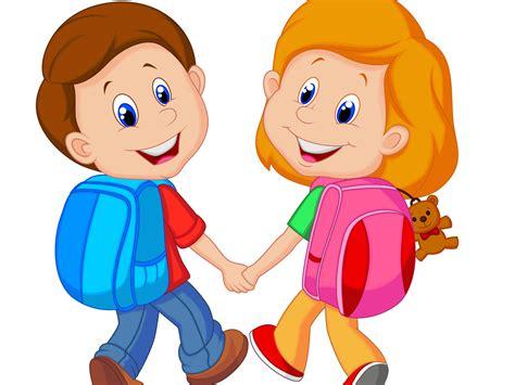 clipart bambini a scuola sempre di pi 249 i bambini che vanno a scuola a piedi bimbi