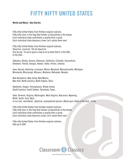printable lyrics 50 nifty united states patriotic songs for kids patriotic music for elementary