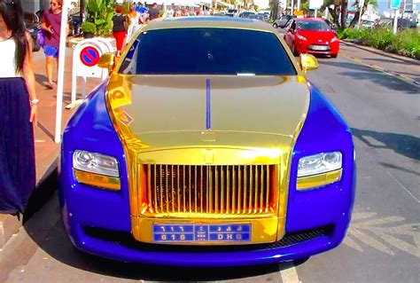 rolls royce gold and red bling bling gold and blue rolls royce ghost in cannes