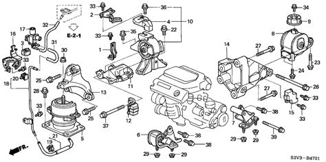 acura parts diagram 50800 s3v a03 genuine acura rubber fr engine mounting