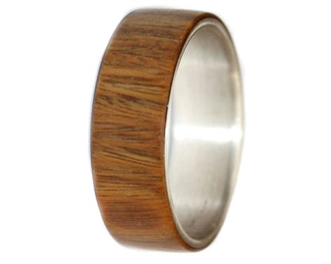 ironwood sterling silver wooden rings