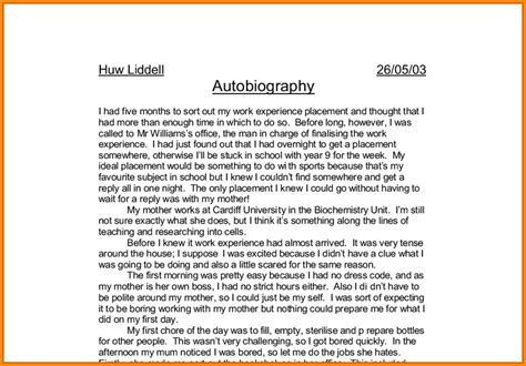 biography exle middle school biography for middle school students autobiography assignment
