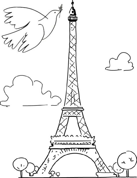 coloring page peace for paris dove of peace 1
