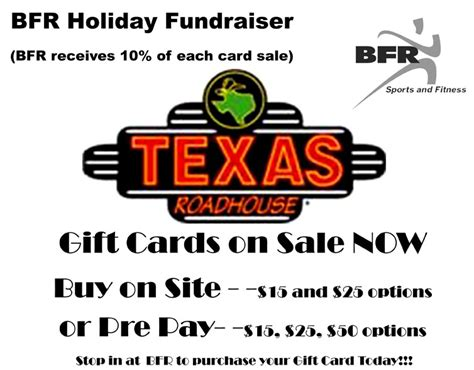 Texas Roadhouse Fundraiser Gift Cards - bfr selling texas roadhouse cards as fund raiser the bluffton icon