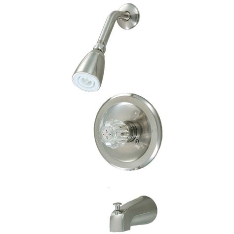 bathtub and shower faucet crystal cove 12 2597 satin nickel tub shower combo faucet