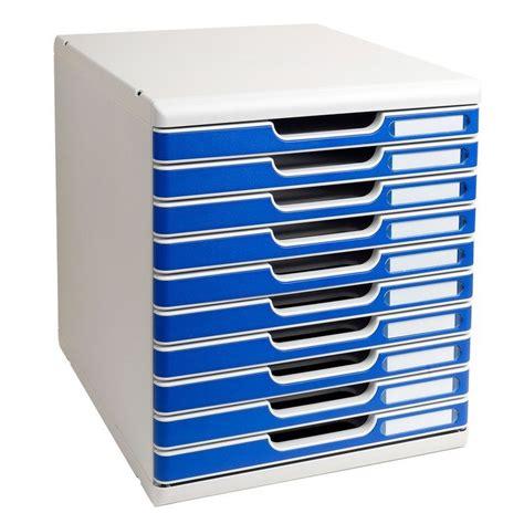 tiroirs de rangement bureau module de rangement 10 tiroirs modulo gris bleu