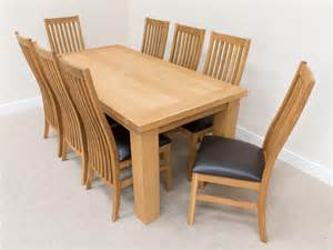Oak Dining Table 8 Chairs Dining Table Oak Dining Table And 8 Chairs