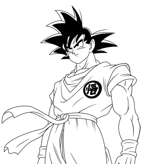 Coloring Page Goku by Goku Coloring Pages To And Print For Free