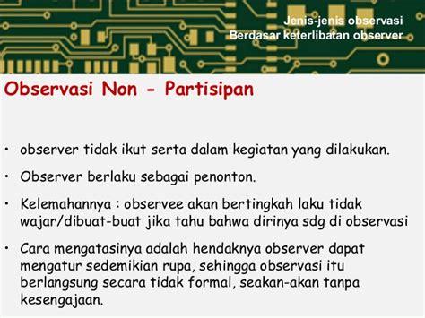 observer pattern adalah jenis observasi 2 data yg dpr diobservasi