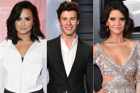 demi lovato grammy awards 2018 grammys 2019 maren morris shawn mendes react as demi