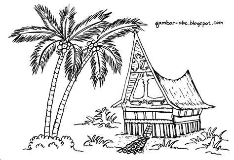 wallpaper rumah hitam putih gambar rumah adat sumatra barat hitam putih gambar