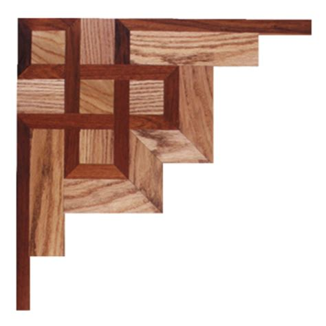 Wood Floor Inlay Corner Meridian