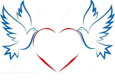 montage photo 2 colombes et un coeur 2 photos pixiz