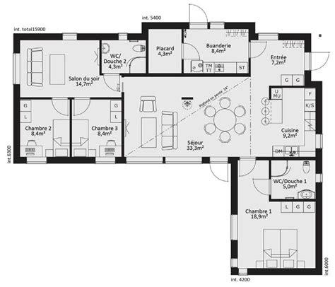 Vaste Maison De Plain Pied D 233 Du Plan De Vaste les 25 meilleures id 233 es de la cat 233 gorie plan maison plain