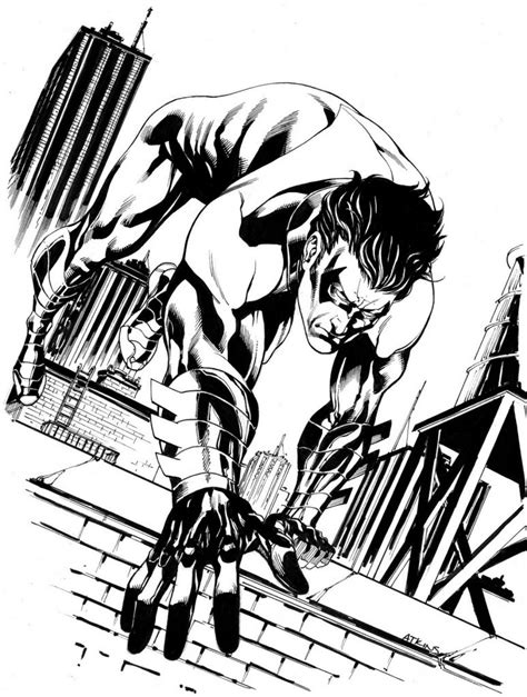 free printable nightwing coloring pages for