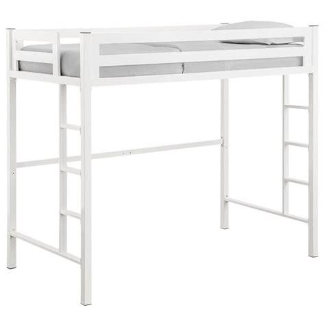 white loft bed for walker edison loft bed in white btsqtolwh