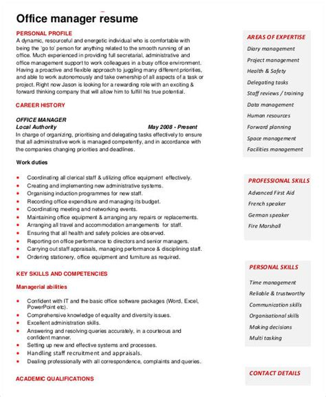 Office Manager Resume Template Free by 49 Professional Manager Resumes Pdf Doc Free