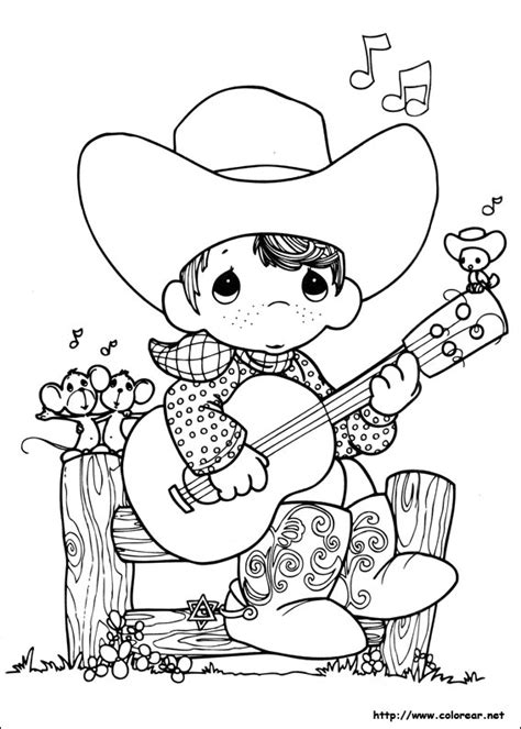 Dibujos Para Colorear De Preciosos Momentos Cowboys Coloring Pages To Print Printable