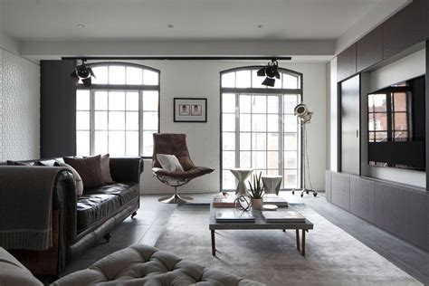 loft living rooms sophisticated industrialism revealed in a london apartment