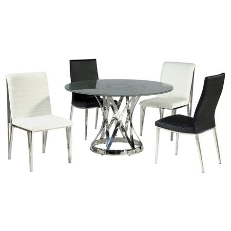 Jamila Kulot Set Bw Abos janet dining table clear crackled glass top