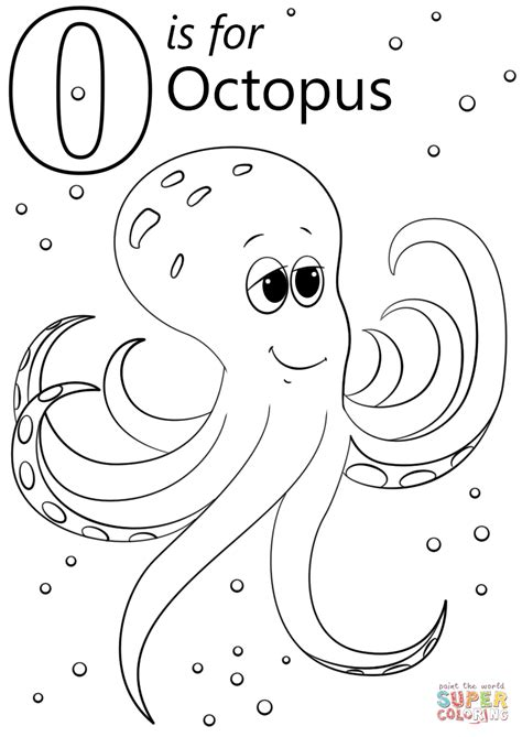 coloring pages for the letter o o is for octopus coloring page free printable coloring pages