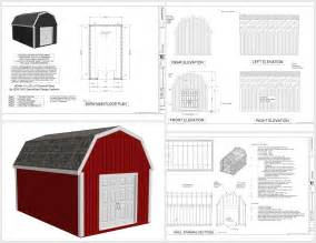 Gambrel Barn Plans by Pics Photos 12 X 20 Gambrel Shed Plans