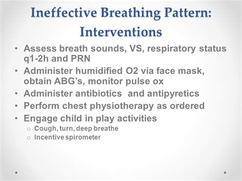 ineffective breathing pattern nurses notes respiratory ppt video online download