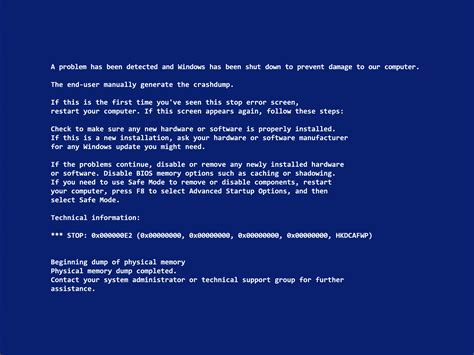 wallpaper blue screen of death blue screen of death wallpapers for april fool s day