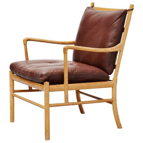 Colonial Chairs by Ole Wanscher Colonial Chair In Oak P Jeppesen Denmark 1959