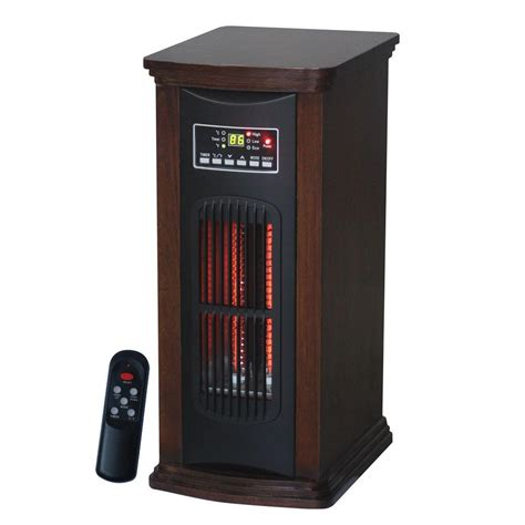 heat l home depot ecotronic 1500 watt 3 element tower infrared electric