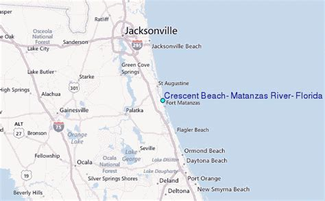 regional map local map detailed map crescent beach matanzas river florida tide station