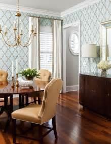 Dining room wallpaper and chandelier liz carroll via house of