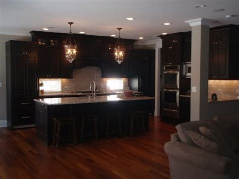 color hardwood floor  espresso cabinets youtube