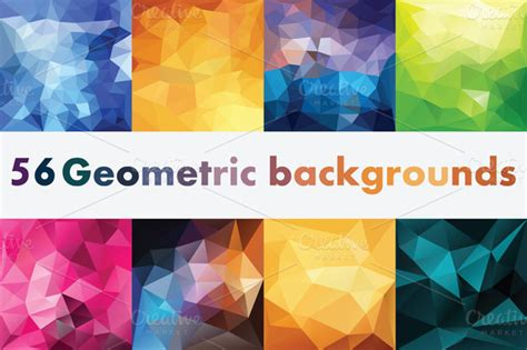 abstract pattern generator triangle polygon vector illustrations vectorise