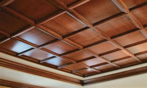designer walls  bedroom faux wood drop ceiling panels