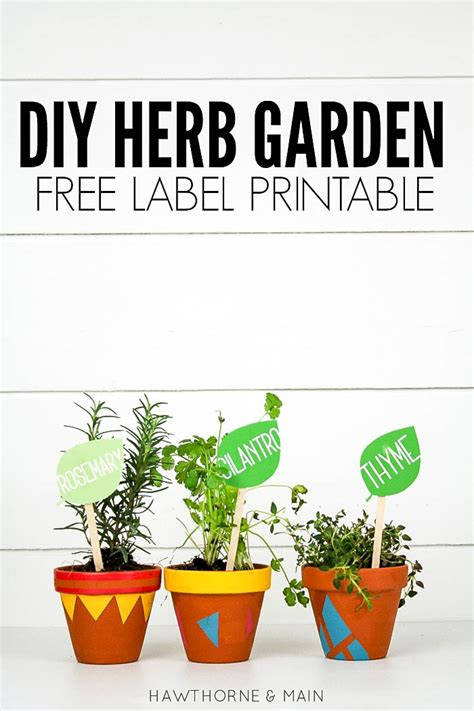 printable plant labels diy herb garden with free label printable lil luna