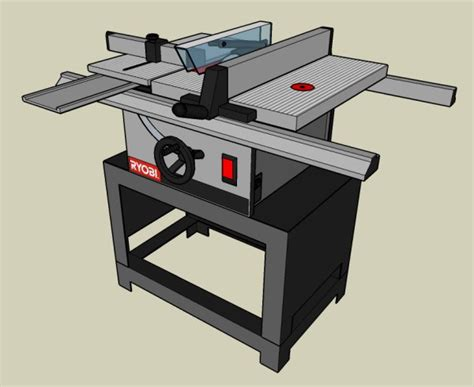 ryobi bt3000 table saw router oblique view
