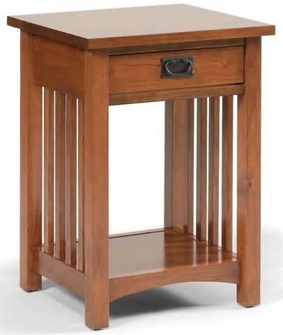 Hudson Nightstand Daniel S Amish Mission 1 Drawer Mission Style Open