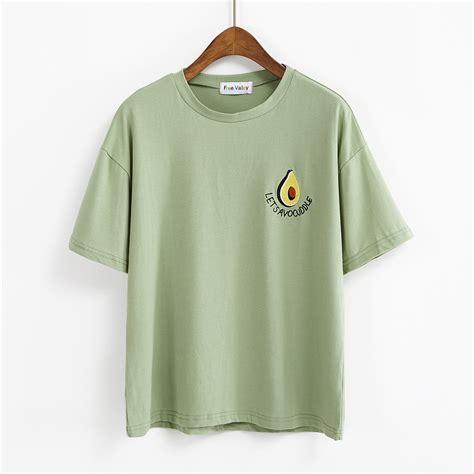 Tshirt Pemburu 1 bts t shirt 2018 harajuku korean lovely t shirts embroidered butter fruit letters