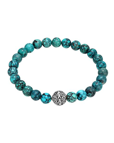 hardy turquoise large beaded bracelet in blue lyst