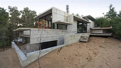 concrete home has everything inside built from