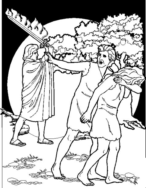 Coloring Page Adam And by Adam And Coloring Pages Biblical Coloring